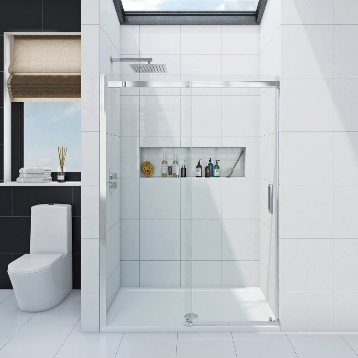 Mode Infiniti 8mm sliding shower door 1400mm