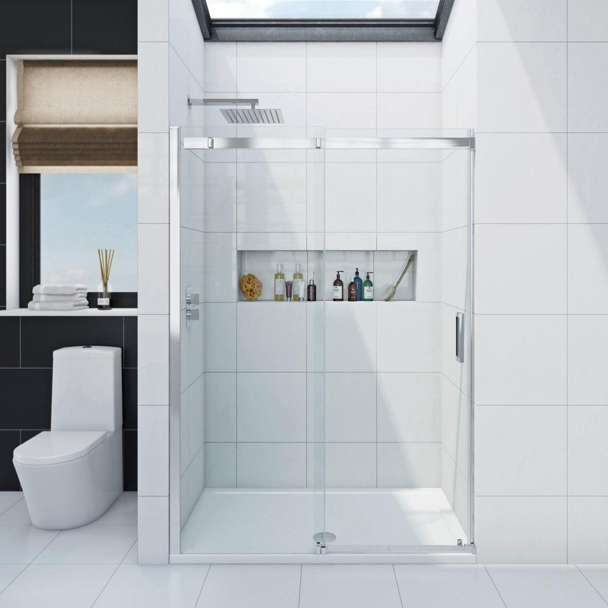 Infiniti 8mm sliding shower door offer pack for 1400mm sliding shower door