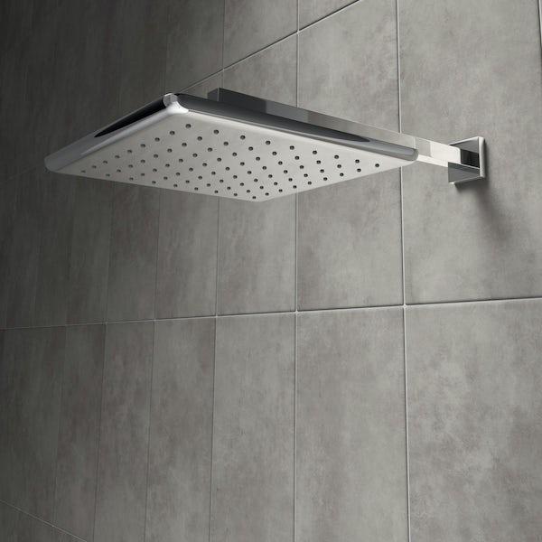Mode Airmix water saving square shower head 250mm