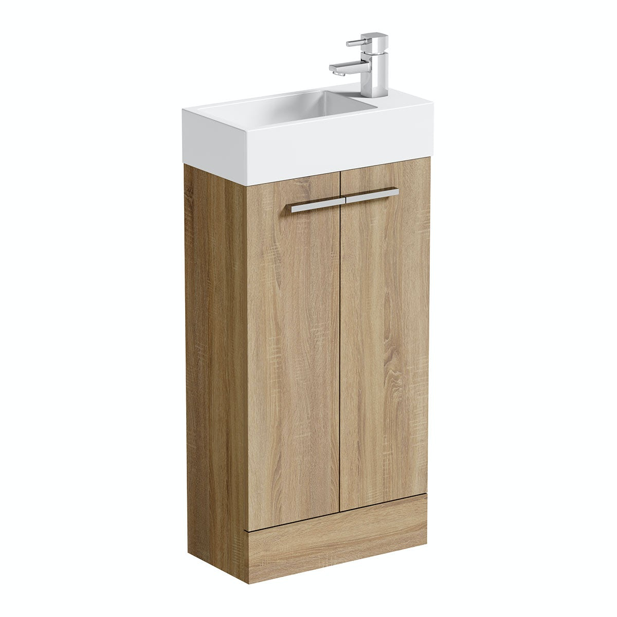 Orchard Oak cloakroom unit with basin 410mm