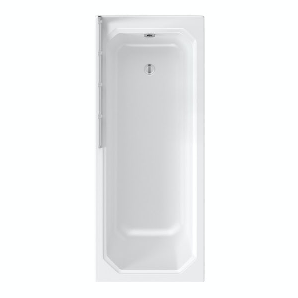 The Bath Co. Camberley 1700 x 700 Shower Bath with 4mm Foldaway Bath Screen