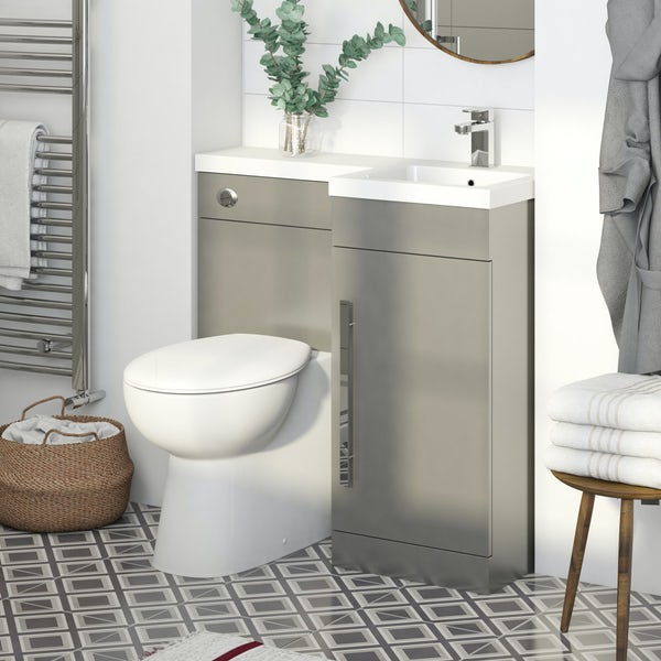 Orchard MySpace grey right handed combination unit with Clarity toilet
