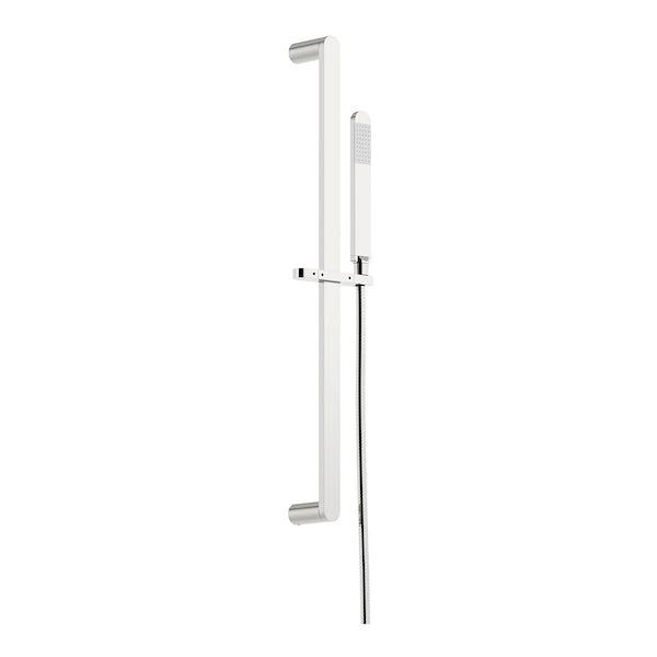 SmarTap black smart shower system with round slider rail and wall shower set