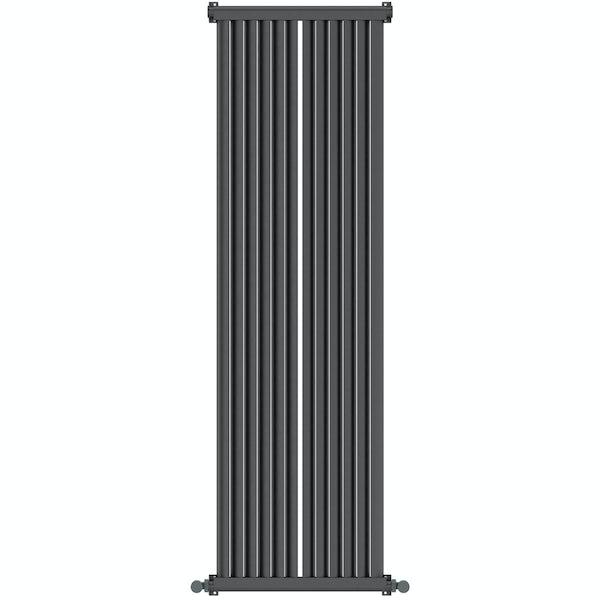 Zephyra anthracite vertical radiator 1500 x 468
