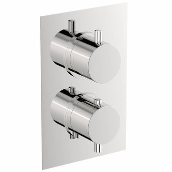 Mode Matrix square twin thermostatic shower valve with diverter offer pack