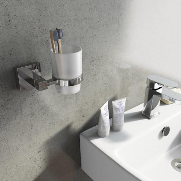 Orchard Derwent square master bathroom 6 piece accessory set
