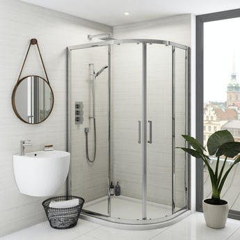 Mode Ellis premium 8mm easy clean offset quadrant shower enclosure