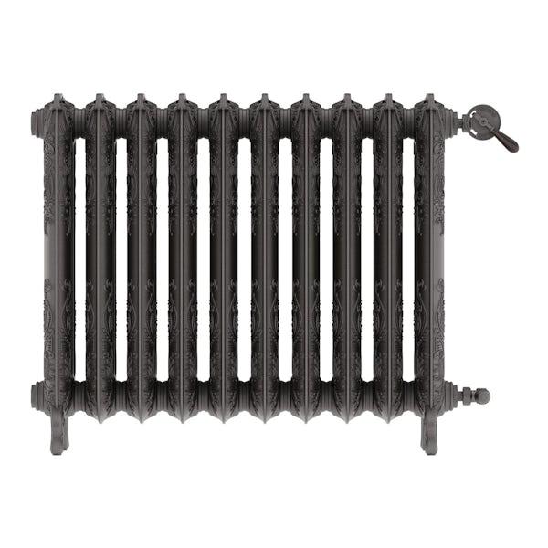 Oxford raw metal freestanding cast iron radiator 710 x 852
