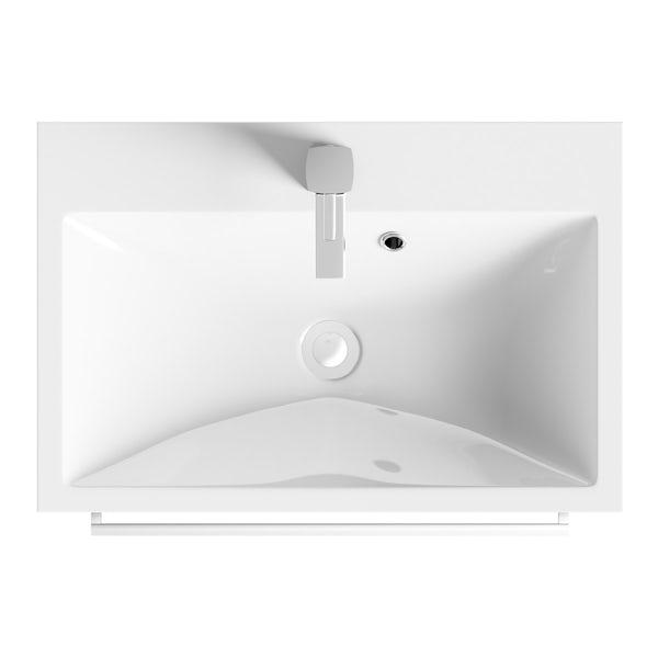 Wye essen 600 wall hung vanity unit with basin