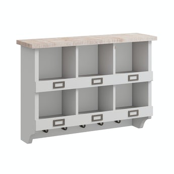Reeves Austin french grey 6 hole wall storage rack