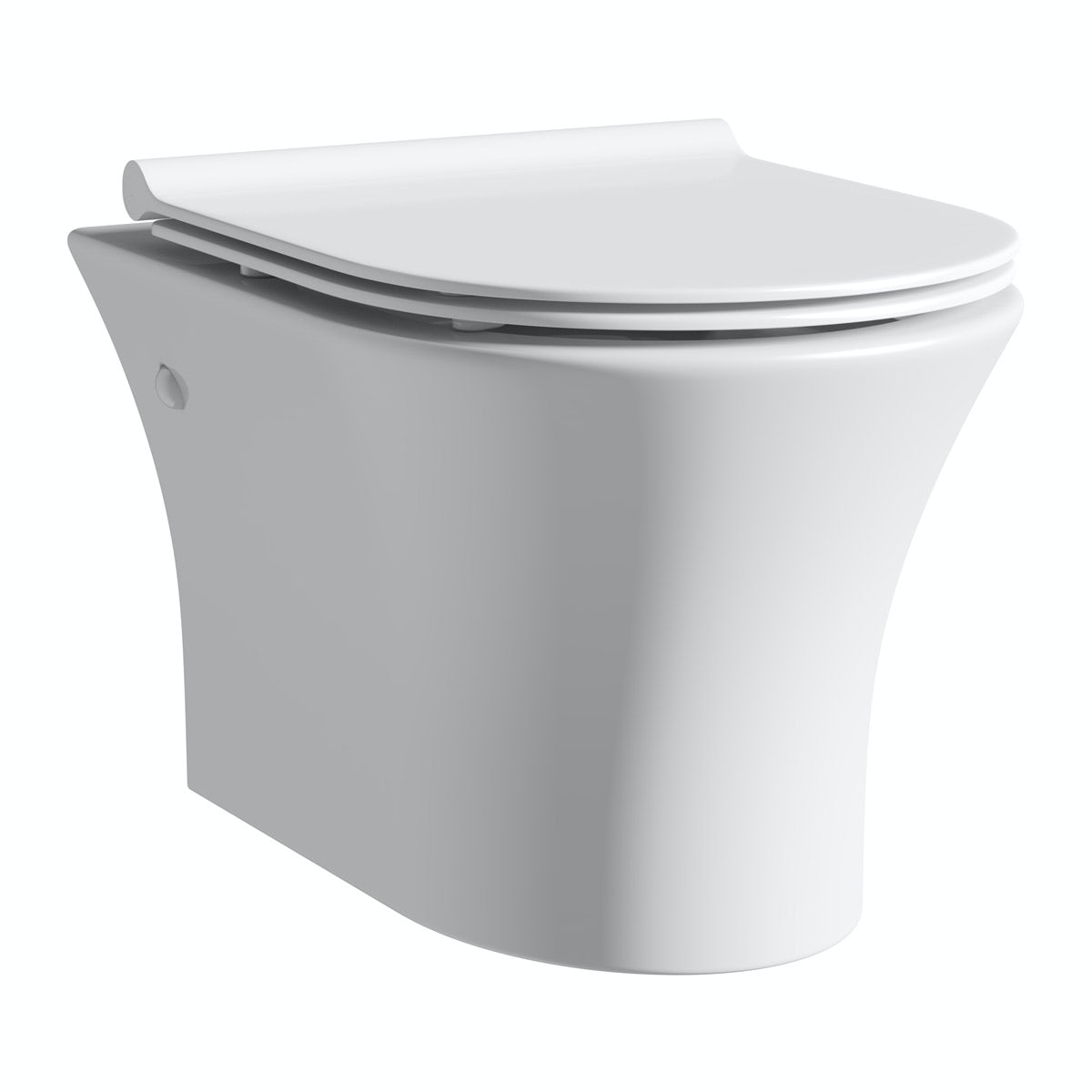 Mode Hardy rimless wall hung toilet with slimline soft close seat