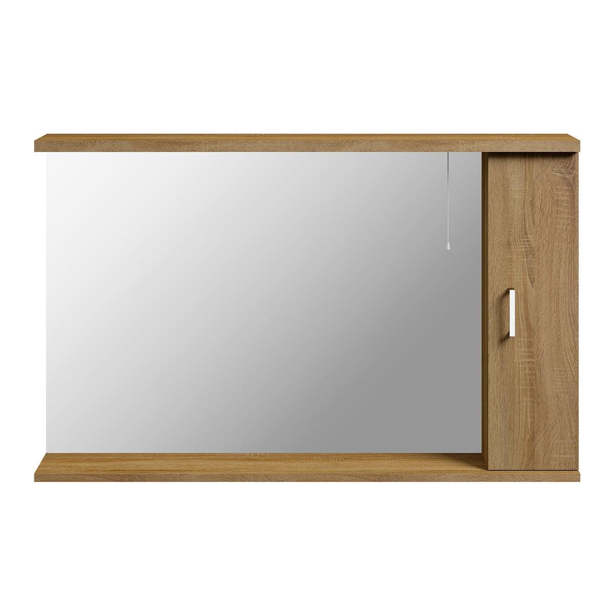 Sienna Oak 1200 Mirror With Lights