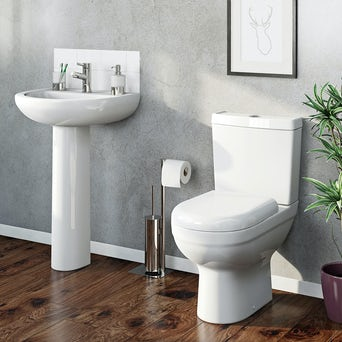 Como Toilet and Basin Suite