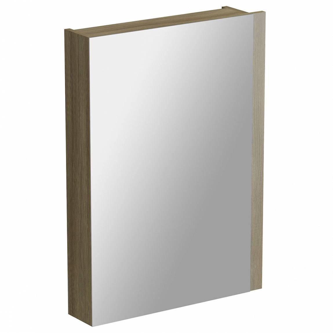 Drift Walnut Mirror Cabinet