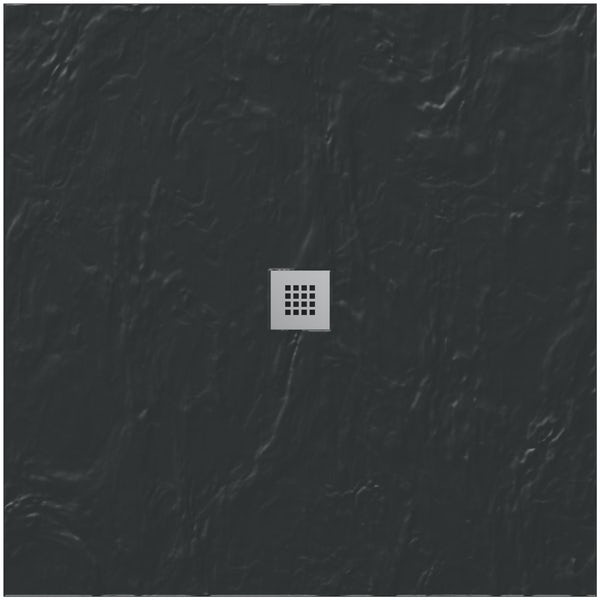 Mode black slate effect square stone shower tray 900 x 900