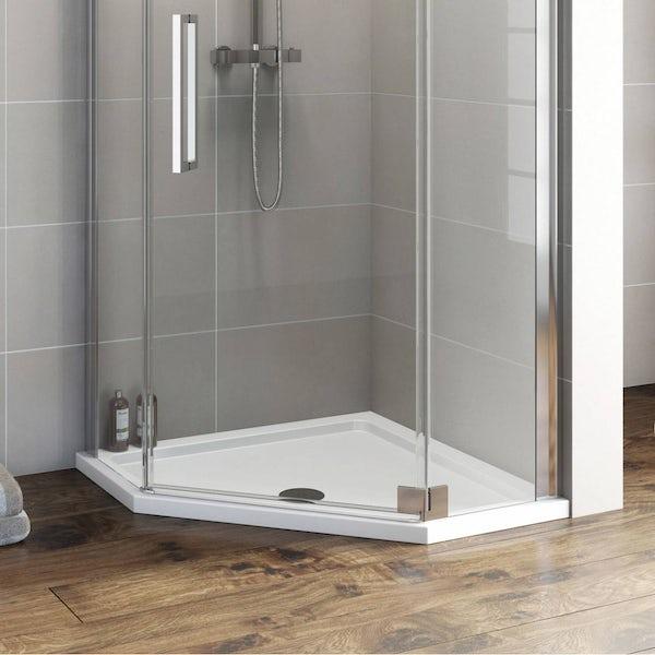 Pentagonal Stone Shower Tray 900 x 900