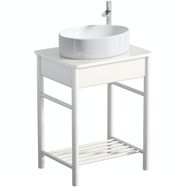 Mode South Bank white washstand with Hardy basin, tap and waste