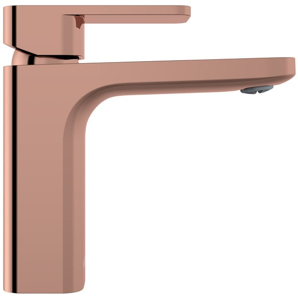 Mode Spencer square rose gold basin mixer tap offer pack