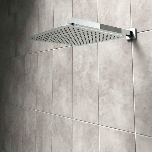 Mode Renzo square slim stainless steel shower head 300mm