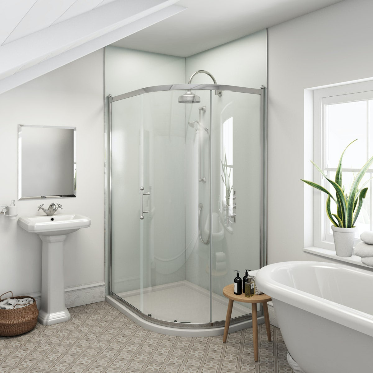 Multipanel Heritage Kew Gloss unlipped shower wall panel 2400 x 1200