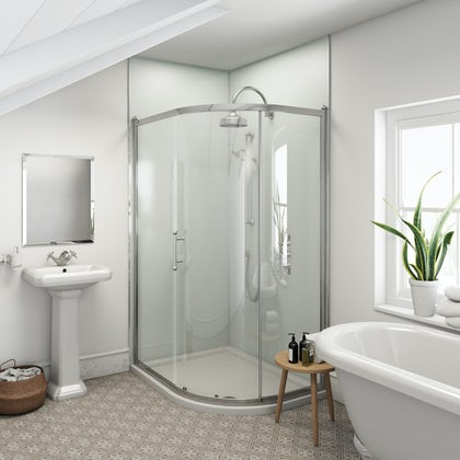 Multipanel Heritage Kew Gloss unlipped shower wall panel 2400 x 1200