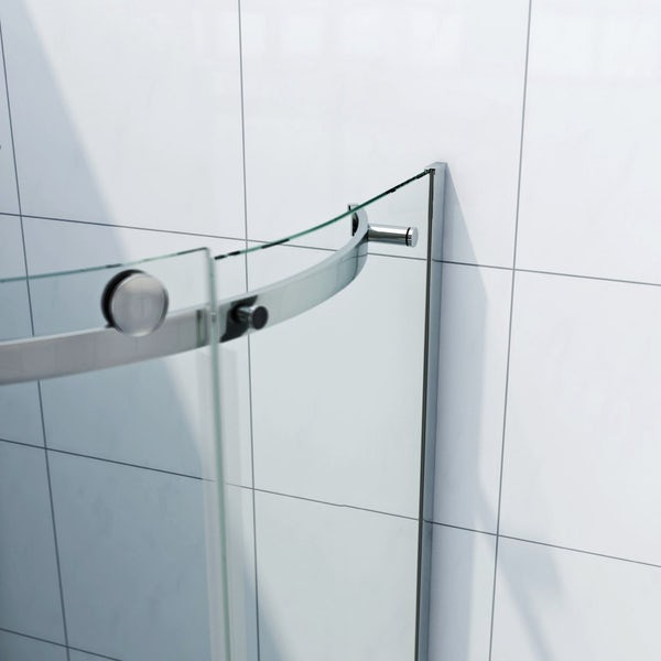 Infiniti 8mm One Door Offset Quadrant Shower Enclosure 900 x 760 LH