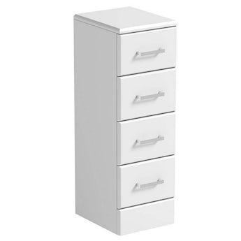 Sienna white multi drawer unit