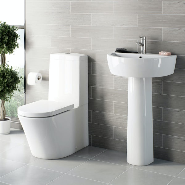 Tate Close Coupled Toilet and Basin Suite