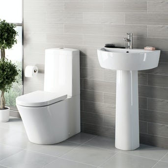 Arc Close Coupled Toilet and Basin Suite