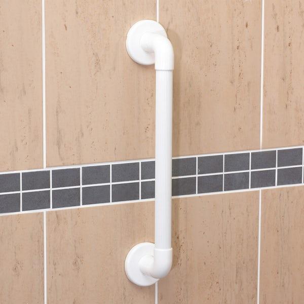 AKW Plastic fluted grab rail large white 450mm