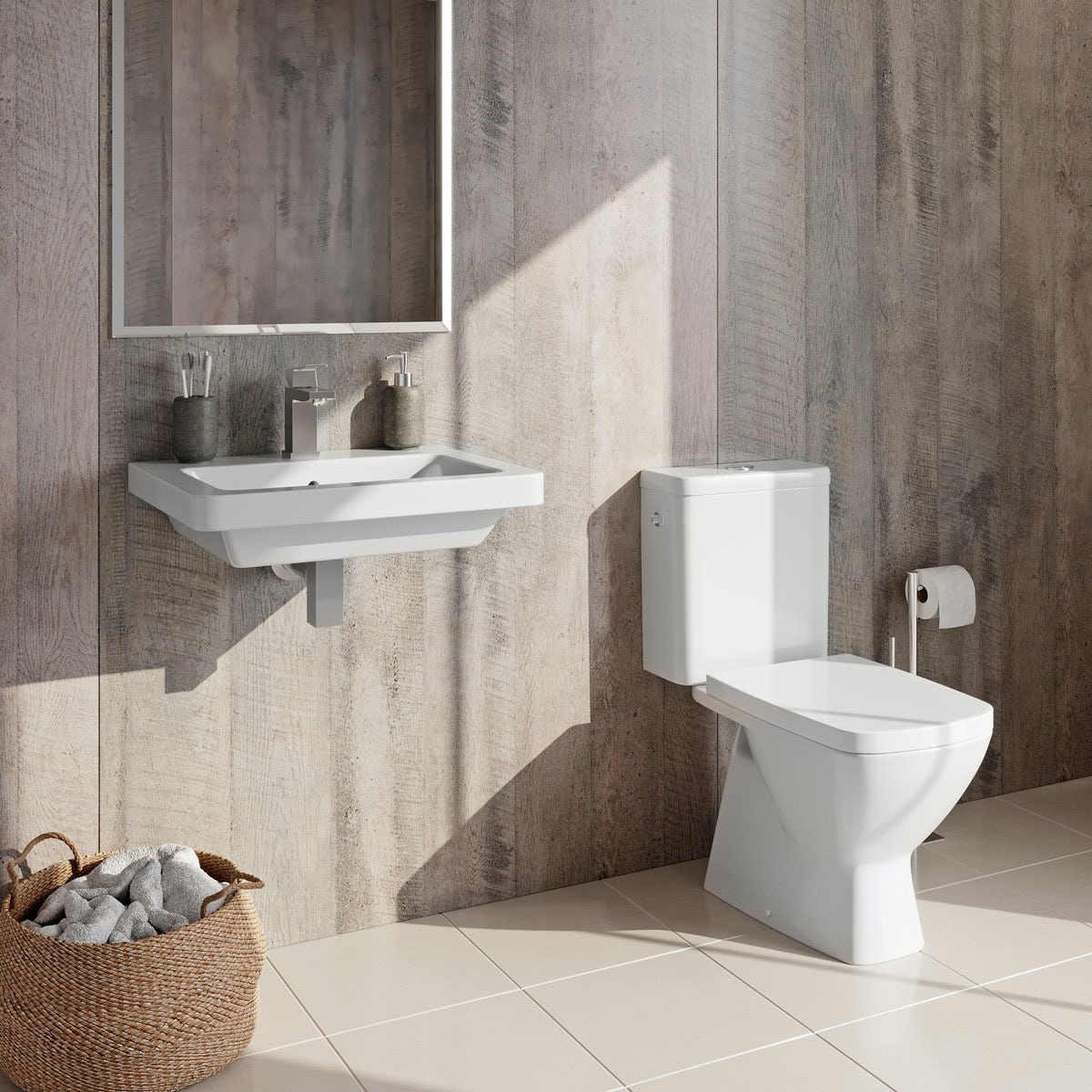 Grohe and Mode Cooper complete cloakroom suite 500mm