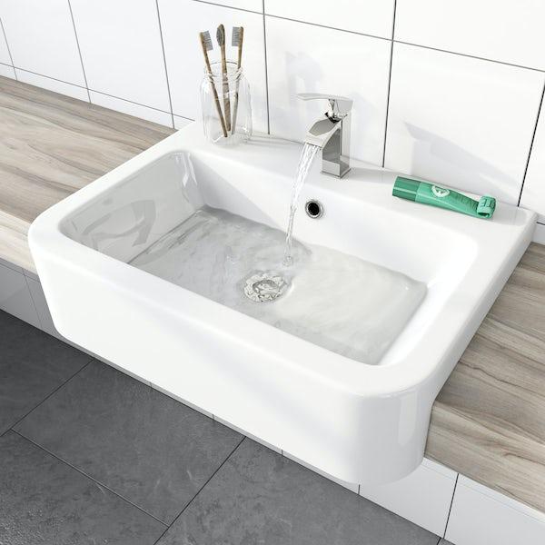 Dulwich semi recessed basin 565mm
