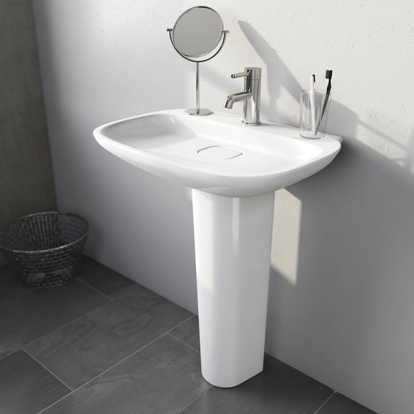 Heath 1TH 600mm Basin and Full Pedestal