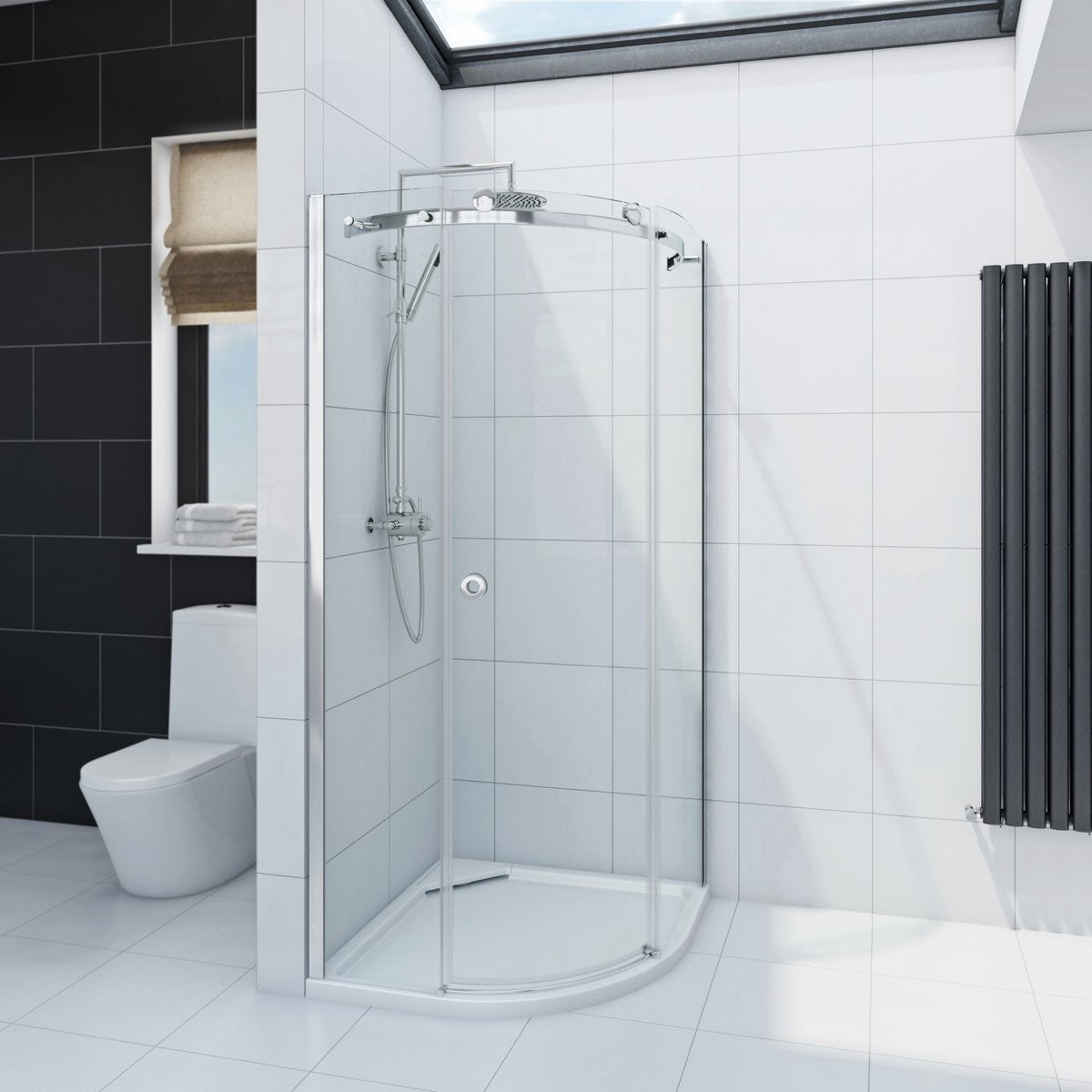 mode infiniti 8mm quadrant shower enclosure 800 x 800