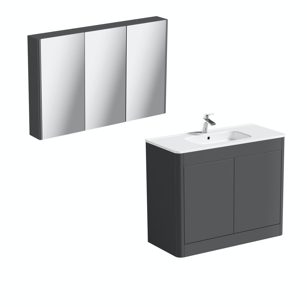 Mode Carter slate vanity unit 1000mm and mirror