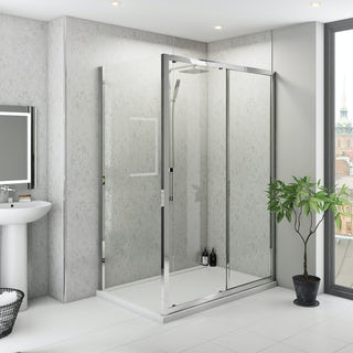 Multipanel Classic Beige Eiger unlipped shower wall panel 1200