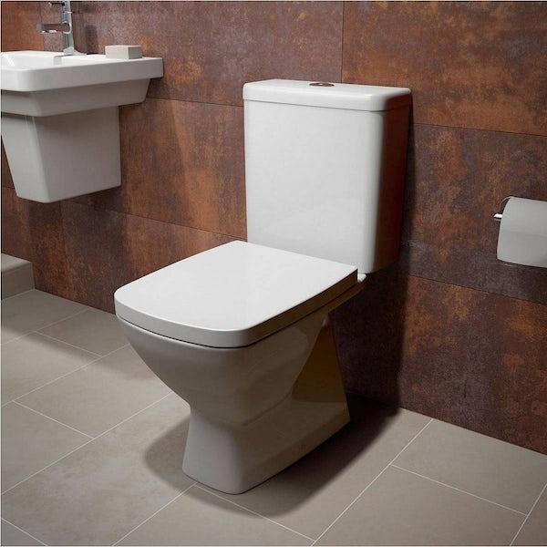 Cooper Semi Pedestal Bathroom Suite
