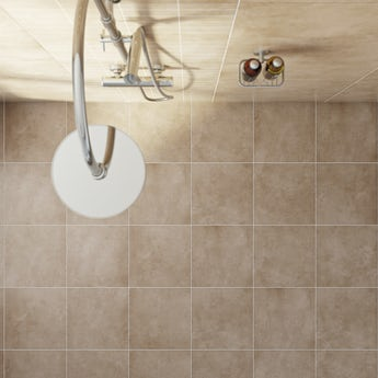 Canvas toffee beige matt tile 331mm x 331mm