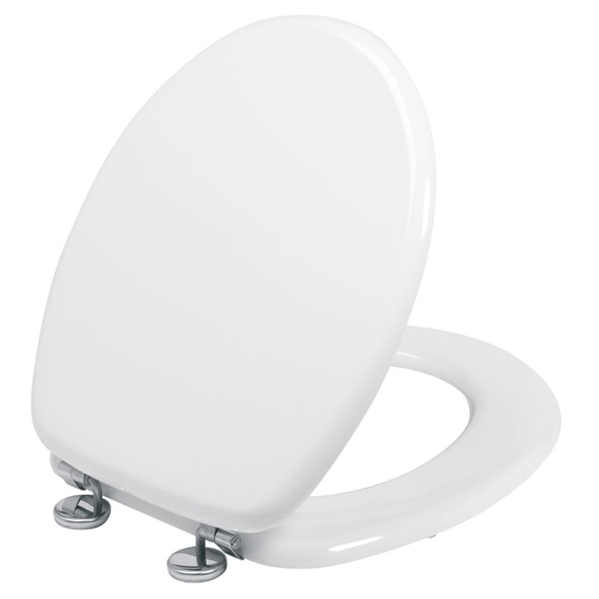 white wooden toilet seat. MDF Seat with Stainless Steel Hinge Toilet  VictoriaPlum com