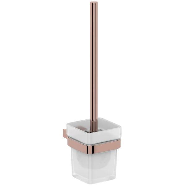 Mode Spencer rose gold toilet brush and holder