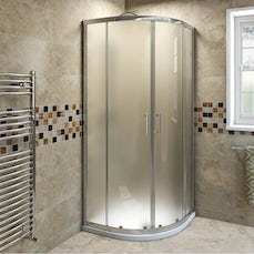 Image of V6 Frosted Glass Quadrant Shower Enclosure 900 Special Offer