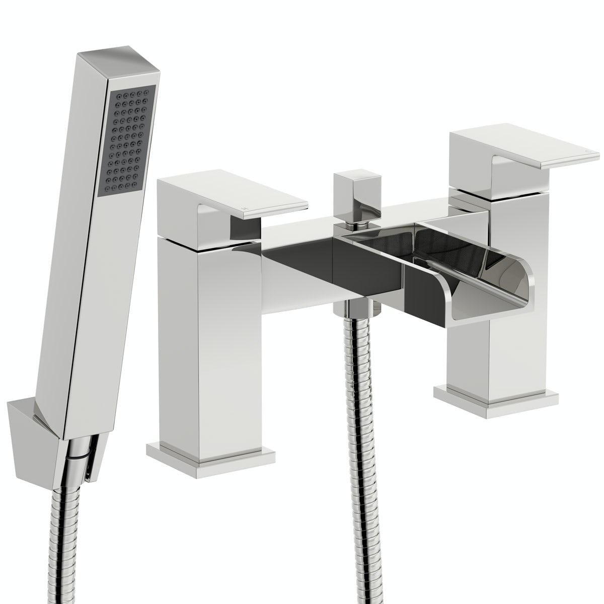 Mode Carter waterfall bath shower mixer tap offer pack