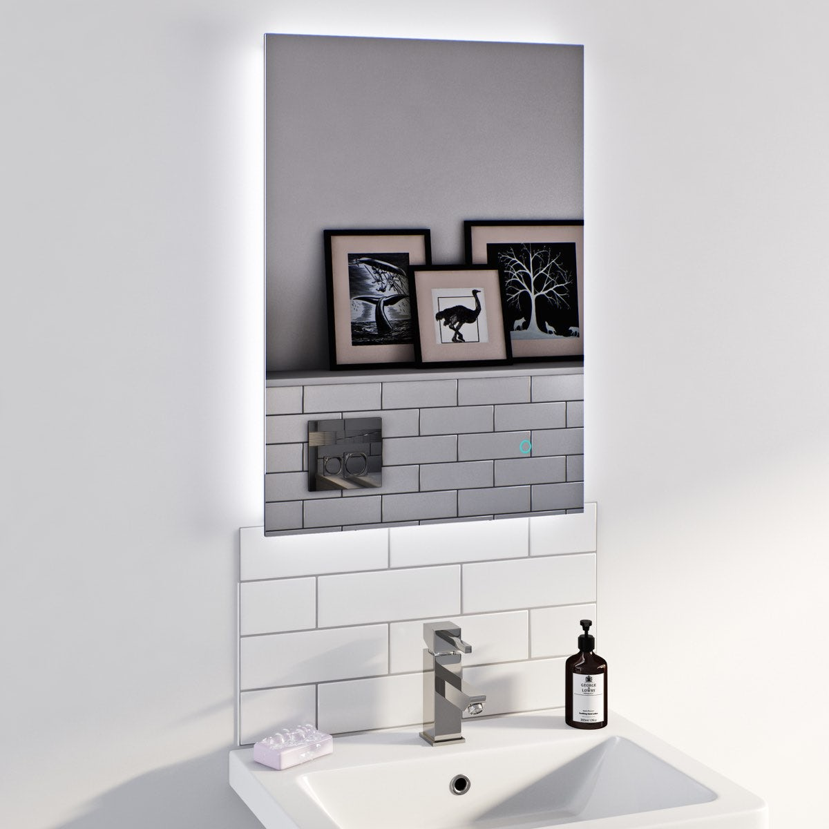 free delivery lumina backlit mirror