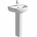 Orchard Eden 1 tap hole full pedestal basin 500mm