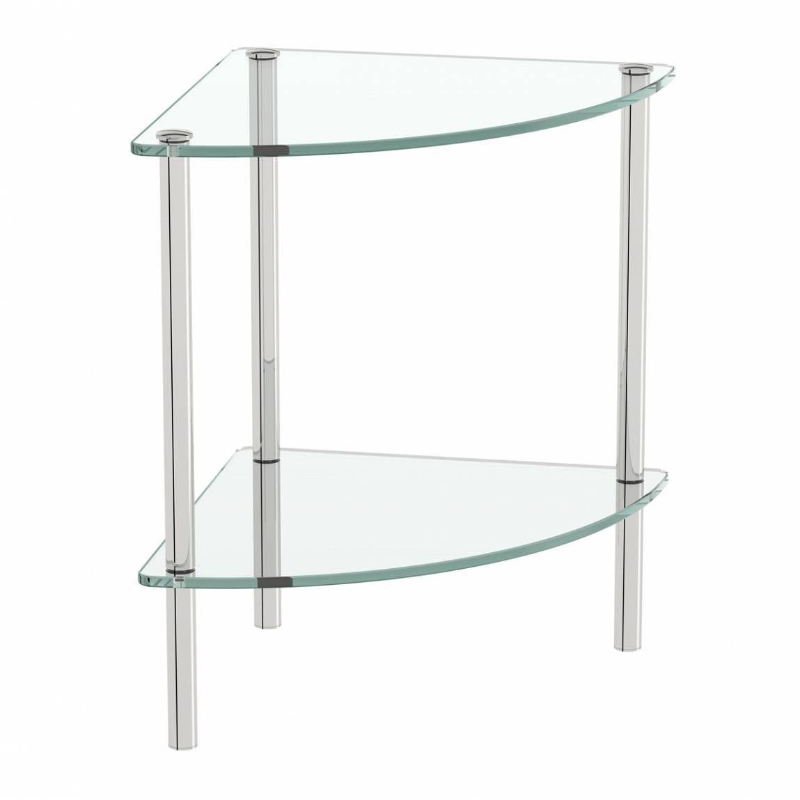 Orchard Options freestanding quadrant 2 glass shelf unit