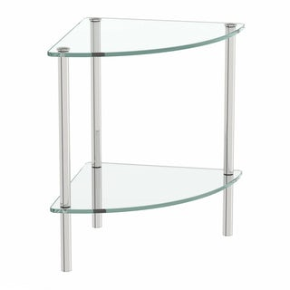 Options Freestanding Quadrant 2 Glass Shelf Unit