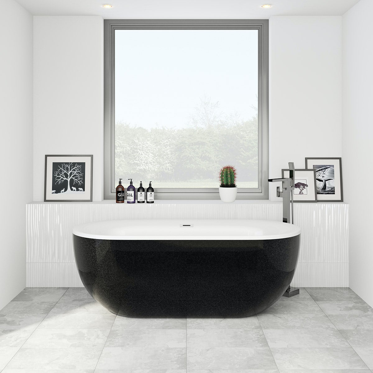 ellis galaxy coloured freestanding bath
