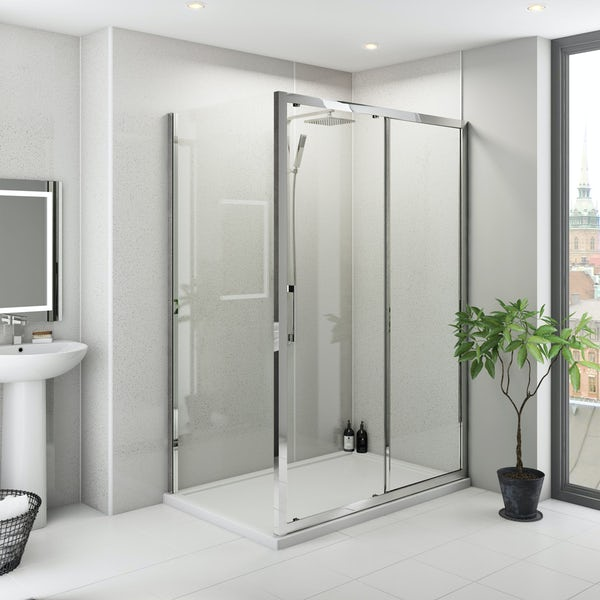 Multipanel Classic Blizzard unlipped shower wall panel 1200