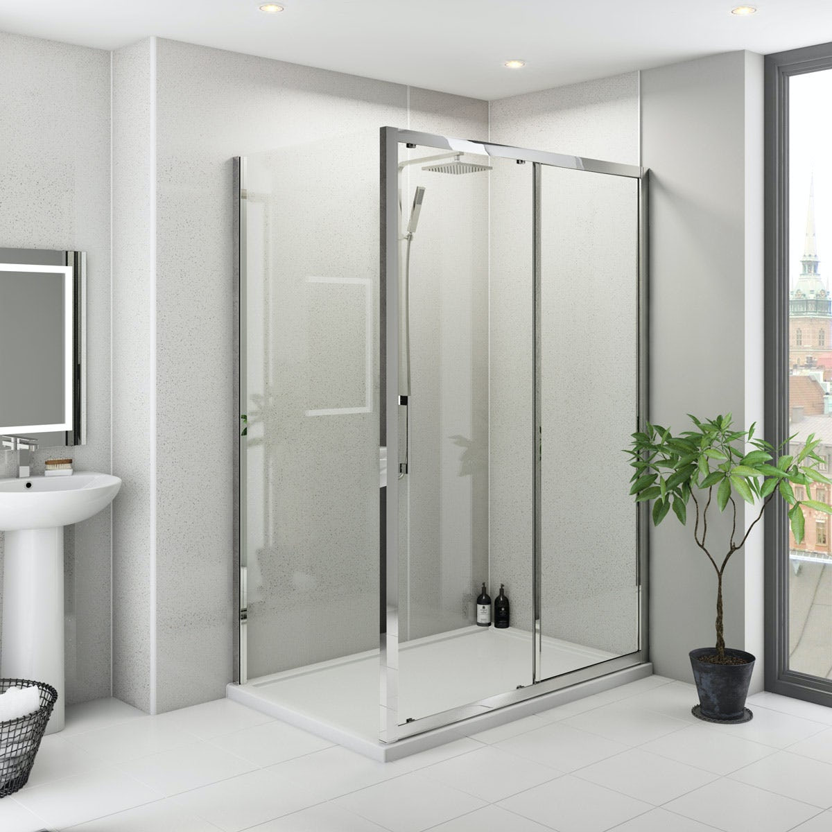 Multipanel Classic Blizzard unlipped shower wall panel 2400 x 1200