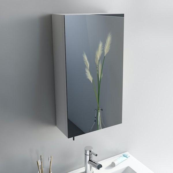 Orchard Reflex white steel mirror cabinet 550 x 300mm